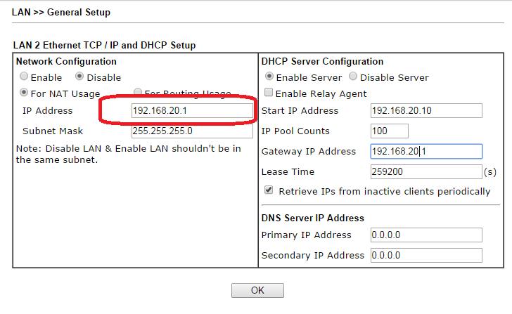 Changing Default LAN IP Address in Vigor2860/Vigor2925