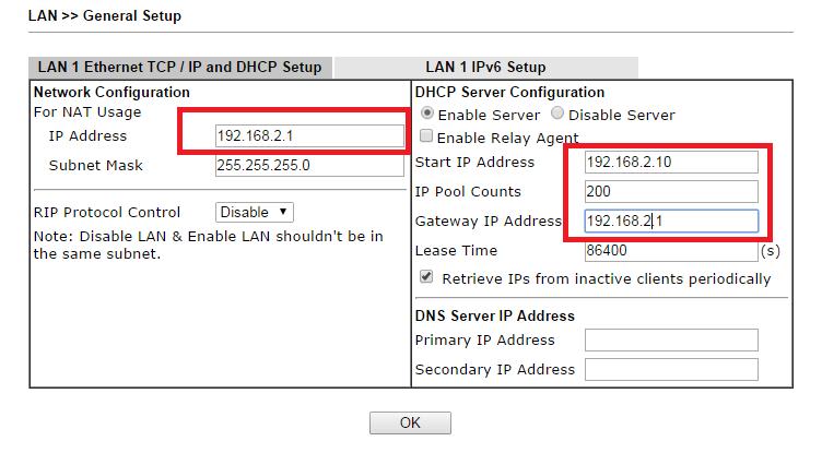 Changing Default LAN IP Address in Vigor2860/Vigor2925