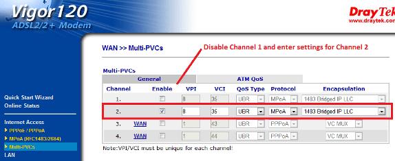 Configuring the Vigor120 Router for Bridge Mode – DrayTek Aust & NZ