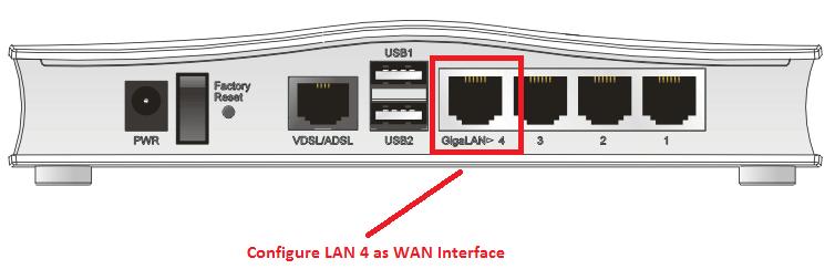 Configuring Vigor2760 Delight For Ethernet Wan Connection Draytek