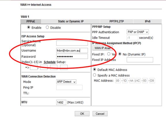 How to Connect a DrayTek Vigor2925 Router to DoDo NBN – DrayTek Aust