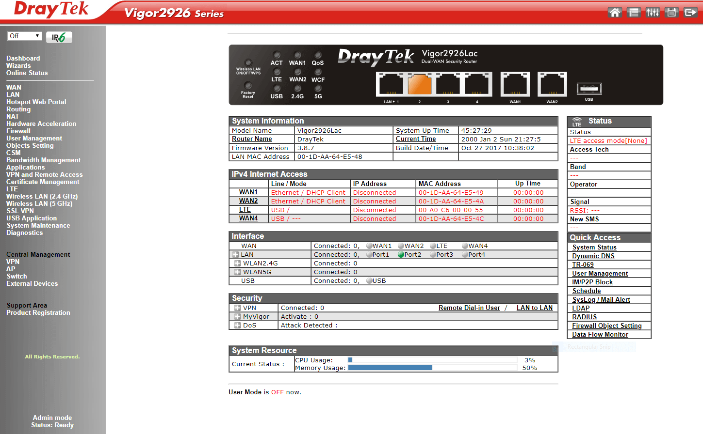 Vigor2926ac – DrayTek Aust & NZ
