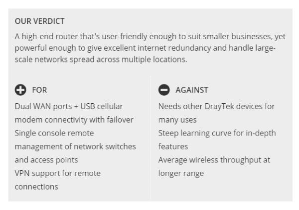 DrayTek Vigor2926 Series – Dual WAN Gigabit broadband firewall