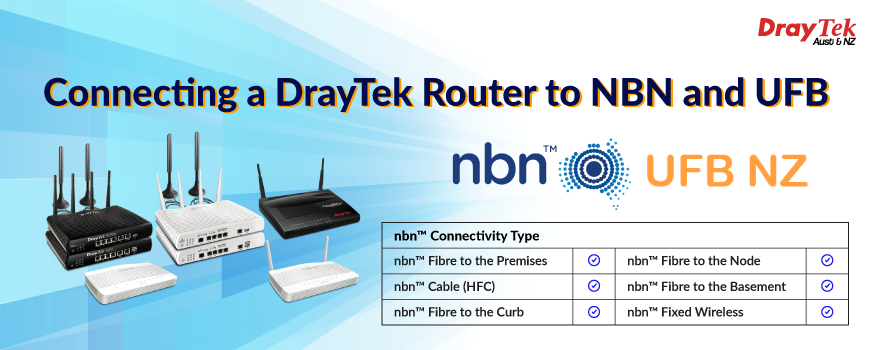 Connecting A Draytek Router To Nbn And Ufb Draytek Australia